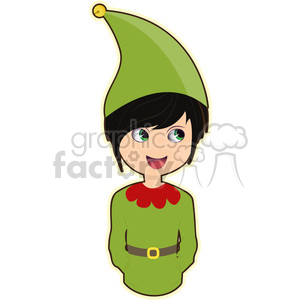 Elf cartoon character vector clip art image clipart. Royalty-free image # 395248