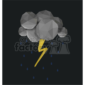 low poly lightning cartoon character vector clip art image geometric