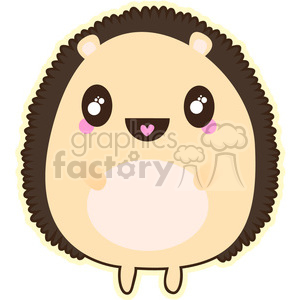 Porcupine cartoon character vector clip art image
