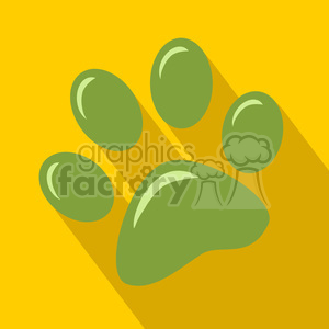 8250 Royalty Free RF Clipart Illustration Green Paw Print Icon Modern Flat Design Vector Illustration clipart. Royalty-free image # 395320
