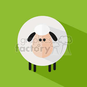 8216 Royalty Free RF Clipart Illustration Cute Sheep Modern Flat Design Vector Illustration clipart. Royalty-free image # 395450