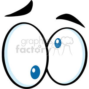 Royalty Free RF Clipart Illustration Nutty Cartoon Eyes clipart. Royalty-free image # 395840