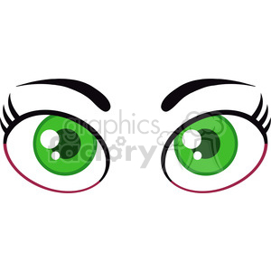 Royalty Free RF Clipart Illustration Cartoon Women Green Eyes clipart. Royalty-free image # 395970