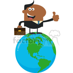 8367 Royalty Free RF Clipart Illustration The Best African American Manager On The World Flat Style Vector Illustration clipart. Royalty-free image # 396032
