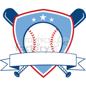 Baseball Shield Banner Design clipart. Commercial use image # 396061