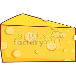 Royalty Free RF Clipart Illustration Cartoon Wedge Of Yellow Cheese clipart. Royalty-free image # 396171
