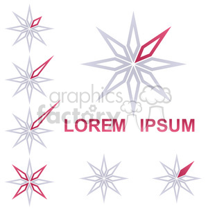 logo template star 011 clipart. Commercial use image # 397176