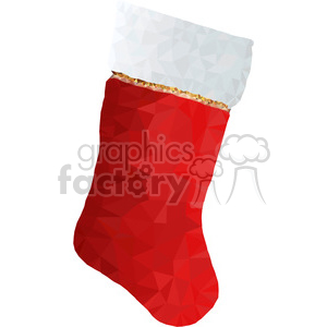 Christmas stocking geometry geometric polygon vector graphics RF clip art images clipart. Commercial use image # 397320