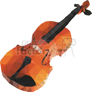 Violin geometry geometric polygon vector graphics RF clip art images clipart. Commercial use image # 397340