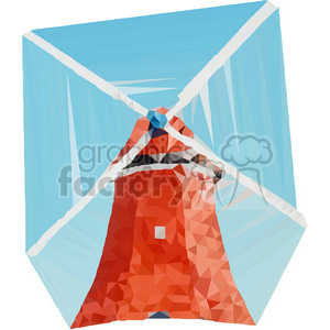 Windmill geometry geometric polygon vector graphics RF clip art images clipart. Commercial use image # 397360
