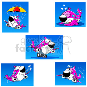 skyler the airplane cartoon character clip art image set clipart. Royalty-free image # 397700