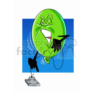 cartoon party balloon vector image mascot happy trying to break his string clipart. Royalty-free image # 397760