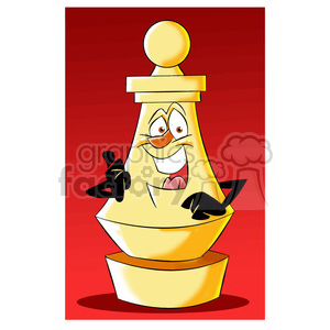 cartoon chess piece character pawn clipart. Royalty-free image # 397770