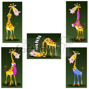 jeffery the cartoon giraffe character clip art image set clipart. Royalty-free image # 397890