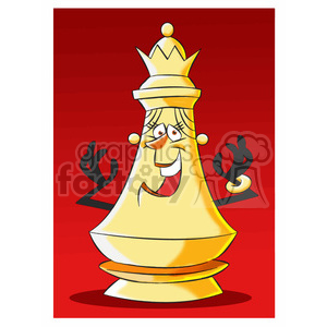 cartoon chess piece character queen clipart. Royalty-free image # 397920