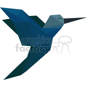 Hummingbird polygon animal art clipart. Royalty-free image # 397968