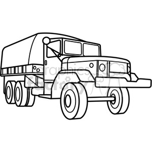 military armored transport vehicle outline clipart. Commercial use image # 397978