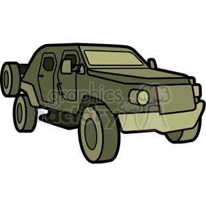 military armored scout vehicle clipart. Royalty-free image # 397988