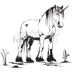 unicorn clipart. Royalty-free image # 398008