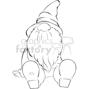 Christmas Gnome Clipart Black And White.Sitting Gnome Clipart Royalty Free Clipart 398028