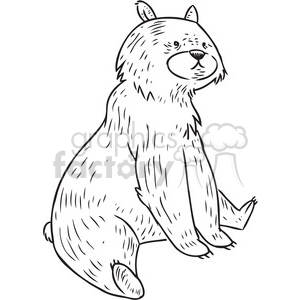 bear sit vector illustration clipart. Royalty-free image # 398088