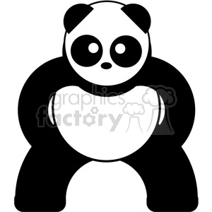 panda symmetrical bear clipart. Commercial use image # 398098