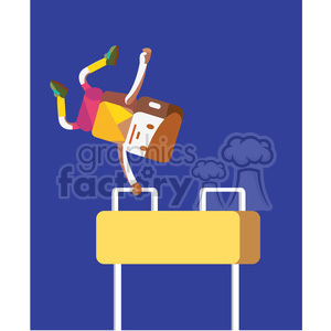 gymnastics pommel horse sports character illustration clipart. Commercial use image # 398148