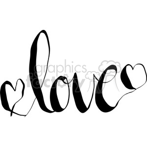 love calligraphy lettering clipart. Commercial use image # 398168