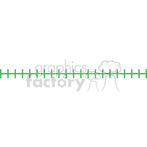 0 - 20 blank number line template clipart. Royalty-free image # 398198