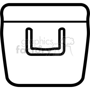 outline of cooler clipart. Royalty-free image # 398208