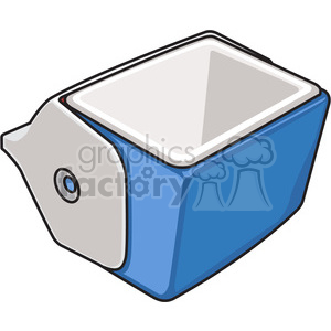 blue opened cooler clipart. Royalty-free image # 398218