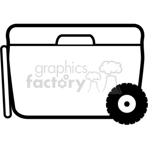 white wheeled cooler icon clipart. Royalty-free image # 398228