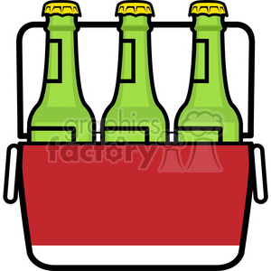 cooler stocked with beer icon clipart. Royalty-free image # 398238