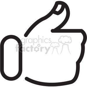 social media thumbs up vector icon clipart. Commercial use image # 398363