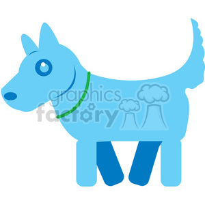 Blue Dog vector image RF clip art clipart. Commercial use icon # 398450