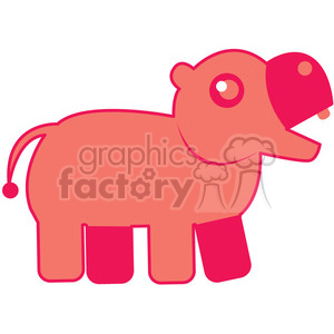Pink_Hippo vector image RF clip art clipart. Royalty-free image # 398460