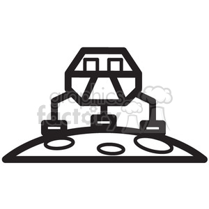 rover landed on mars clipart. Royalty-free icon # 398470