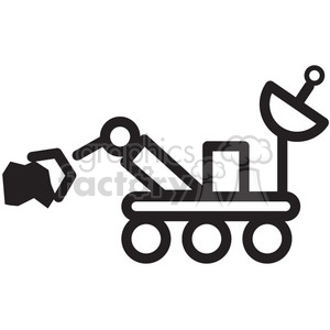 space rover lifting a rock vector icon clipart. Commercial use image # 398500