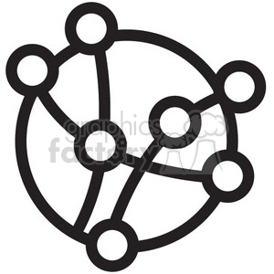 connections diagram vector icon clipart. Royalty-free icon # 398562