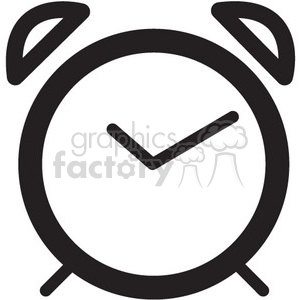 icon icons black+white outline symbols SM vinyl+ready alarm clock timer wake