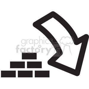 icon icons black+white outline symbols SM vinyl+ready brick download save security
