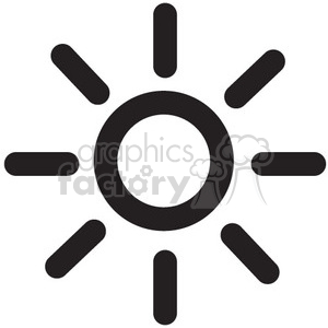brightness vector icon clipart. Royalty-free icon # 398595