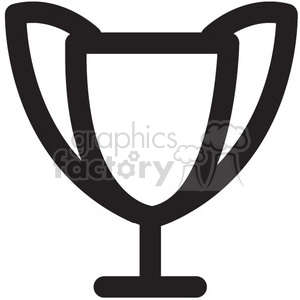 trophy vector icon clipart. Commercial use image # 398610