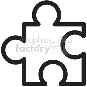 puzzle piece vector icon clipart. Royalty-free image # 398615