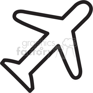 airplane vector icon clipart. Royalty-free image # 398620