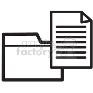 folder and files vector icon clipart. Royalty-free image # 398625