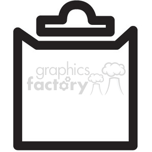 clipboard vector icon clipart. Royalty-free image # 398630