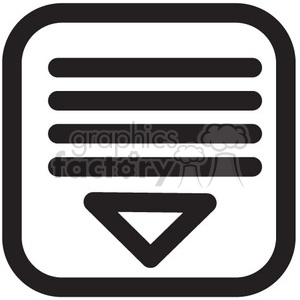 expand menu vector icon clipart. Royalty-free image # 398635