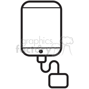charge my iphone vector icon clipart. Commercial use image # 398654