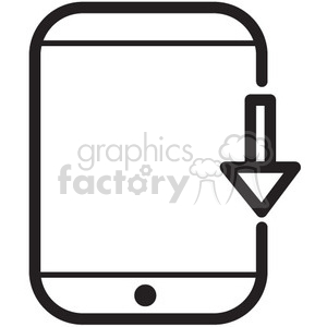 download to device vector icon clipart. Royalty-free image # 398669
